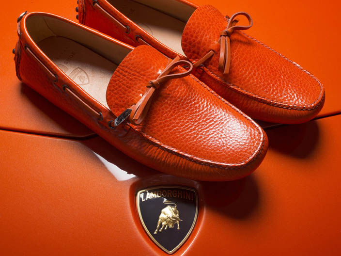 Automobili Lamborghini e Car Shoe: 50 anni in un mocassino