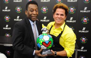 Hublot: arte e calcio con Pelè e Britto