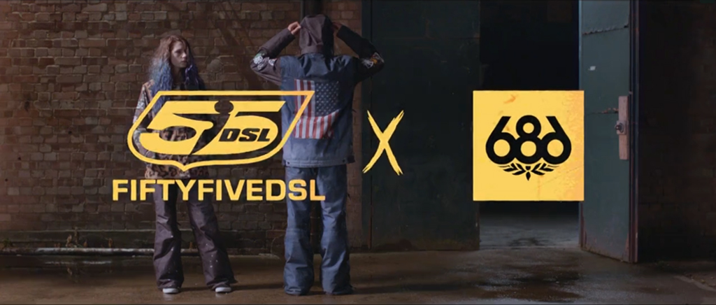 Diesel collaborates with 686 to offer a snowboard collection
