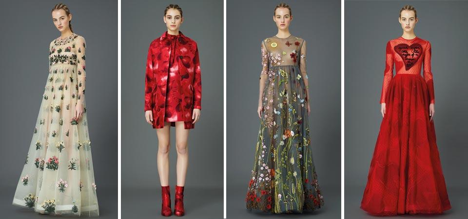 Maison Valentino si ispira all'arte e collabora con  Giosetta Fioroni e  Celia Birtwell