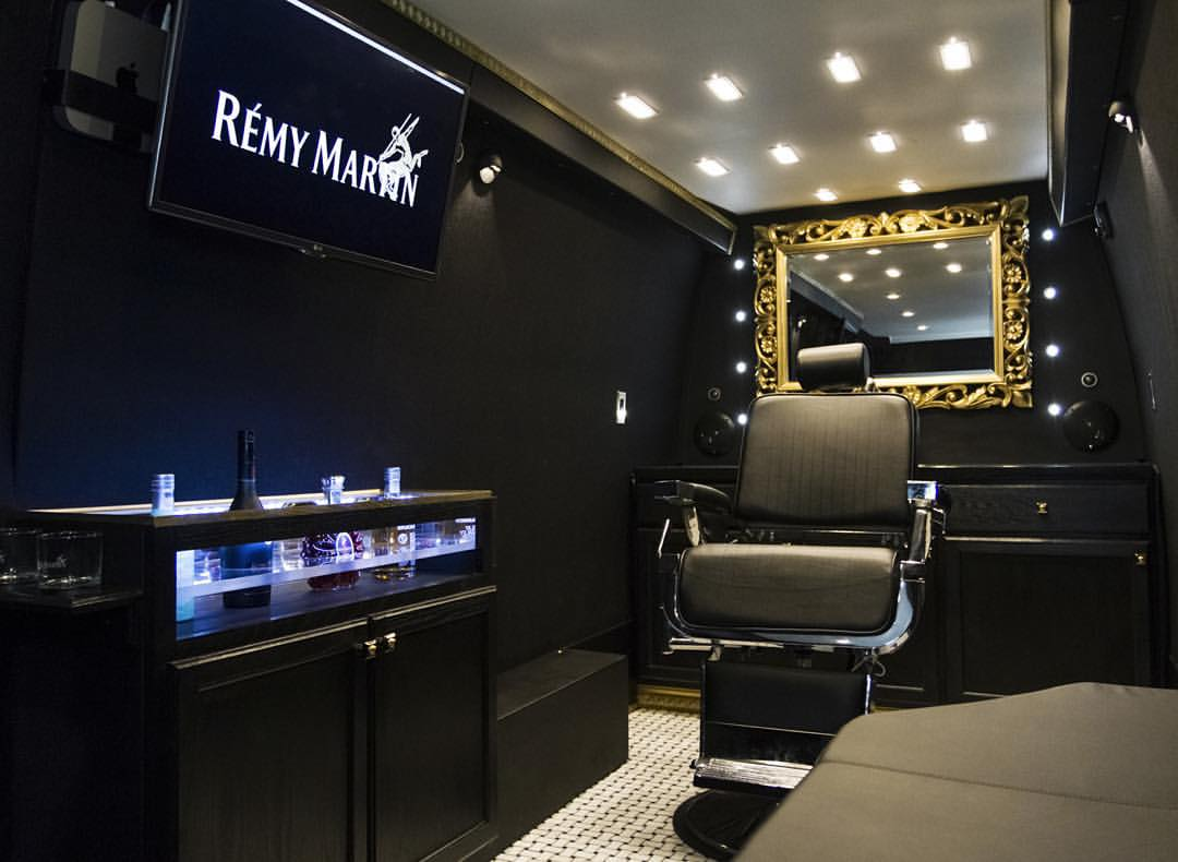 Putting the 'bar' in 'barber': Remy Martin x Notorious