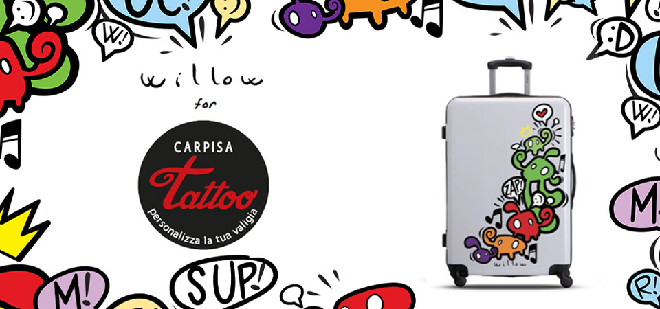 Willow x Carpisa Tattoo: l'arte in valigia