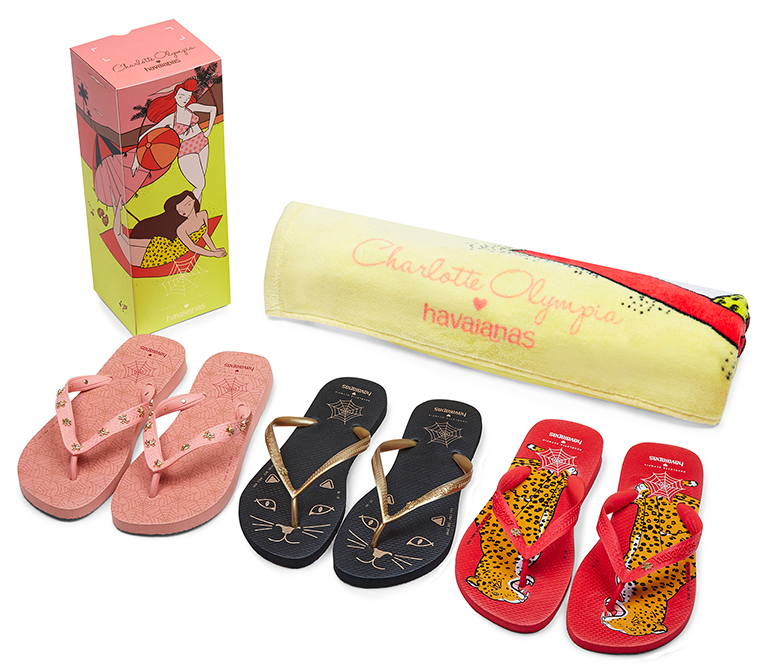 Havaianas: una capsule collection con Charlotte Olympia