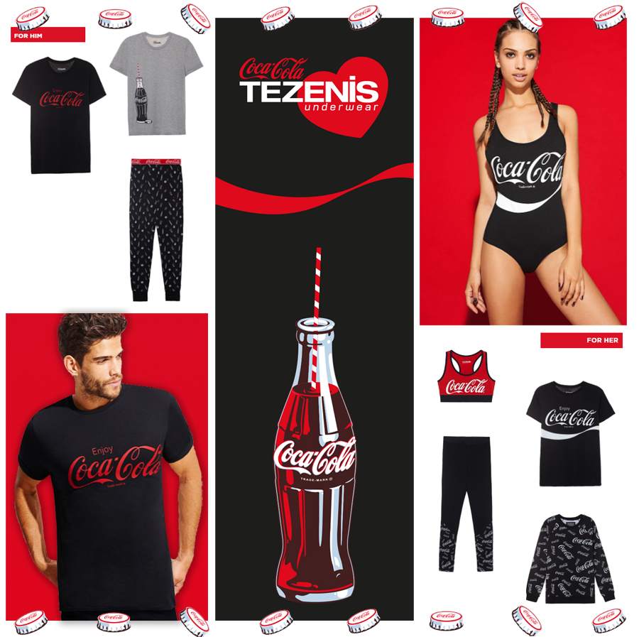0867ba6f11 A fresh and lively capsule for Tezenis with Coca-Cola | brandjam
