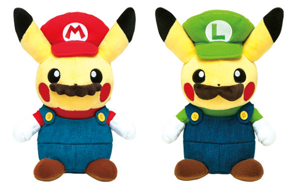 Pikachu dresses up as Mario