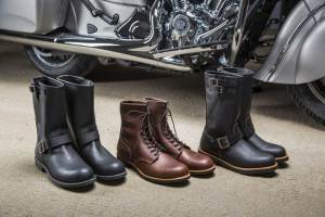 American craftmanship brings together Indian Motorcycles and Red Wing Shoes