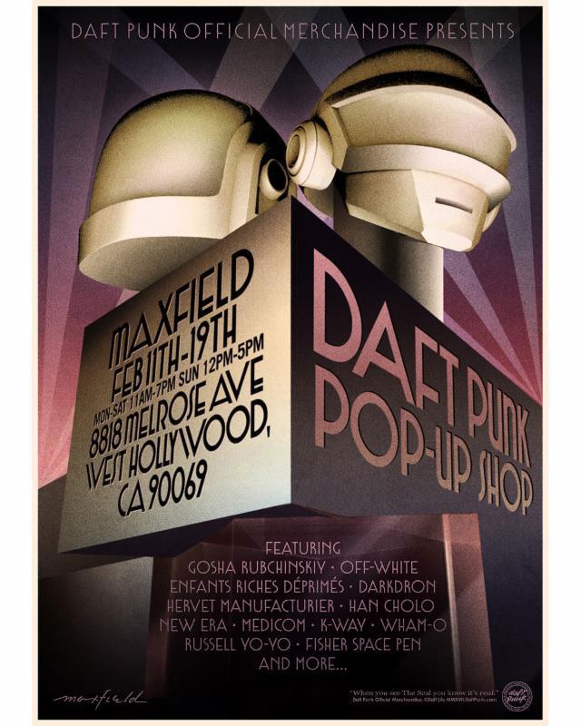 Merchandising, fashion, retail: la ricetta dei Daft Punk