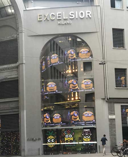 Minions by Craig and Karl capsule showcases at Excelsior Milano