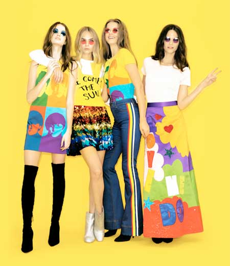 Alice + Olivia x The Beatles: tutta un'altra musica