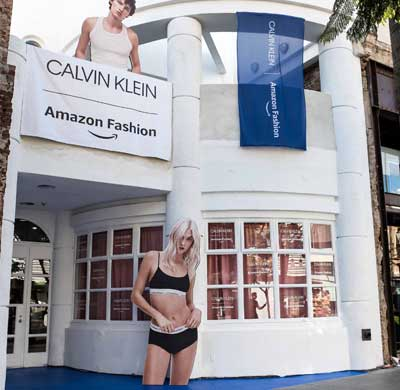 Amazon Fashion apre pop-up store con Calvin Klein