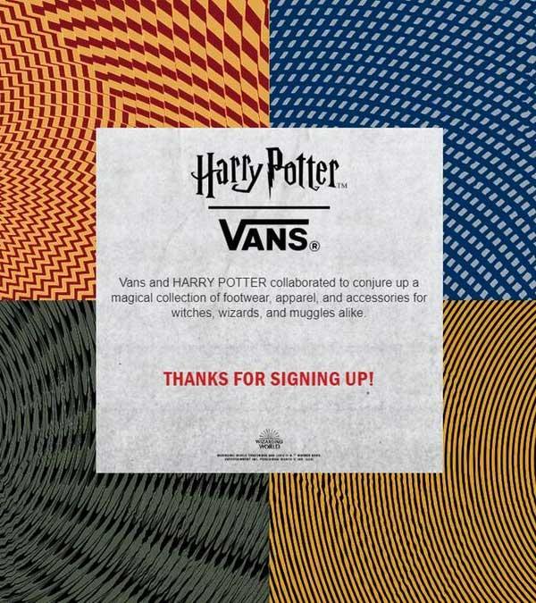 Vans con Harry Potter in arrivo