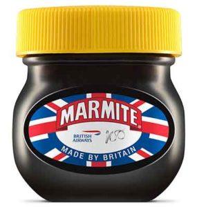 Marmite e altri marchi brit festeggiano 100 anni di British Airway