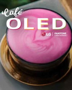 LG pops-up with Pantone at Cafè OLED