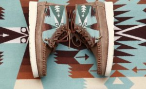 Sebago has teamed up Pendleton for a Native Americans-inspired capsule