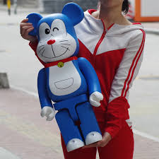 Bea@rbrick with Doraemon for the 50th anniversary