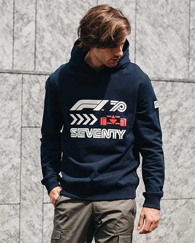 Formula1 celebra 70 anni con la linea fashion 8JS