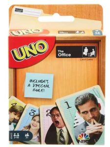 The Office series on a special UNO card game