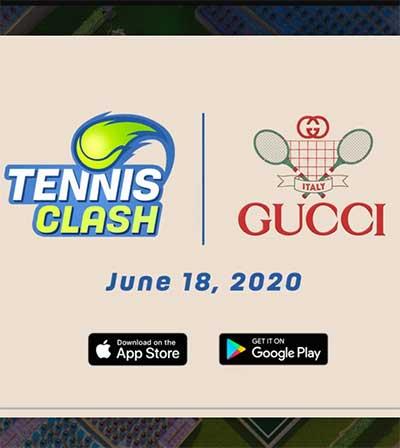 Lusso e gaming: i Gucci Open con Tennis Clash