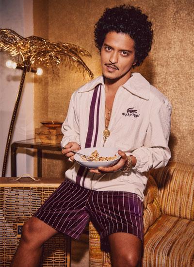 Bruno Mars Lancia il suo lifestyle brand con Lacoste