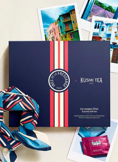 Inés de la Fressange con Kusmi Tea: Les Voyages d'Inés